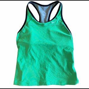 Nike Dri-fit Tank GREEN W BLACK TRIM & Pockets